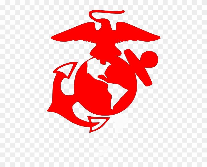 Usmc Red Clip Art At Clkercom Vector Online Royalty - Marine Corps Emblem Clip Art #177403