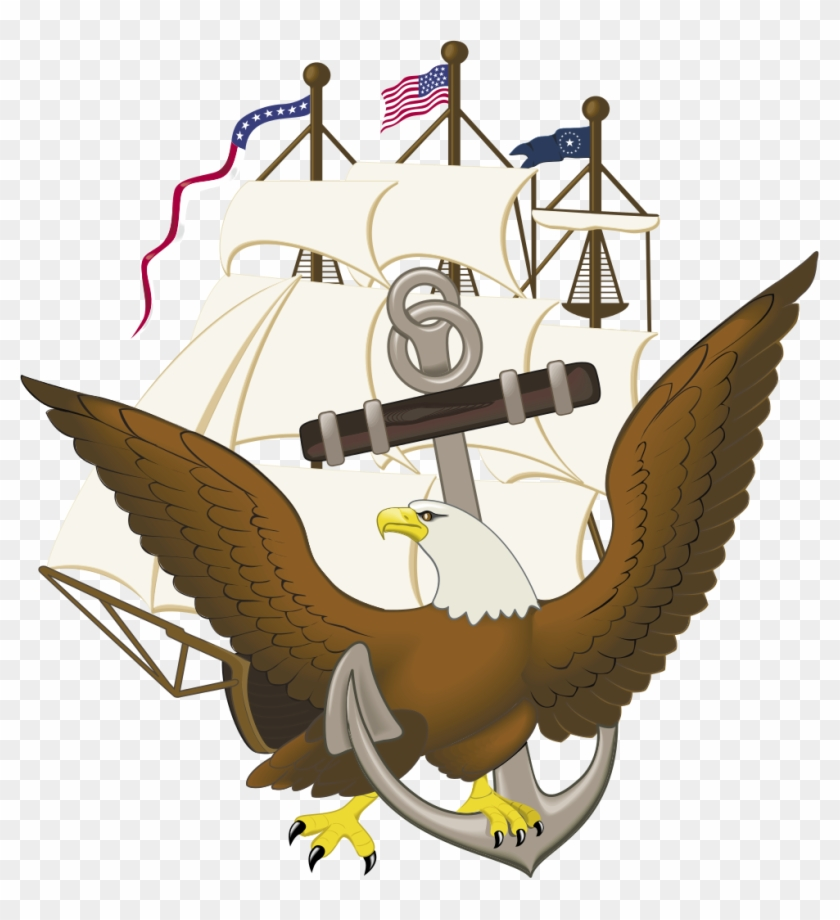 Anchor, Constitution, And Eagle - Navy Eagle And Anchor #177423