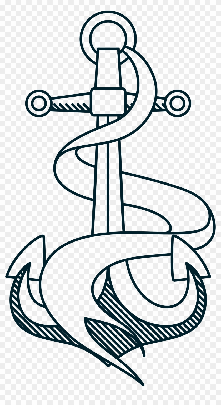 Anchor Rope Clip Art - Drawing #177435