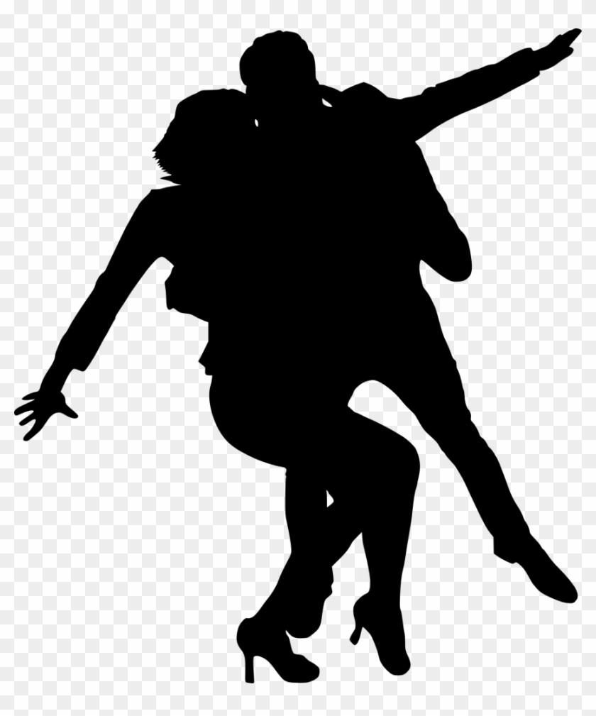 Couple Umbrella Silhouette - Dancing Icon Transparent Background #177677