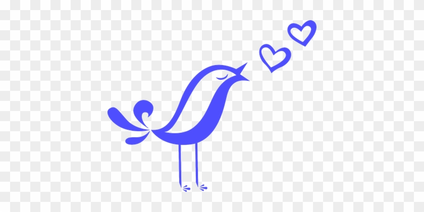 Animal Bird Chirp Cool Remeras Hearts Love - Love Song Clip Art #177680