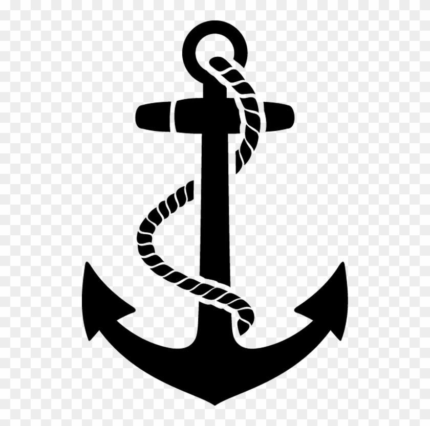 Boat Anchor Wall Sticker - Us Navy Anchor Logo #177695
