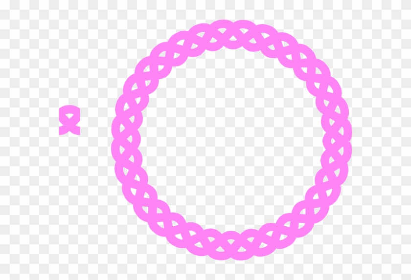 Pink Rope Border Clipart - Gold Borders Png Round #177705