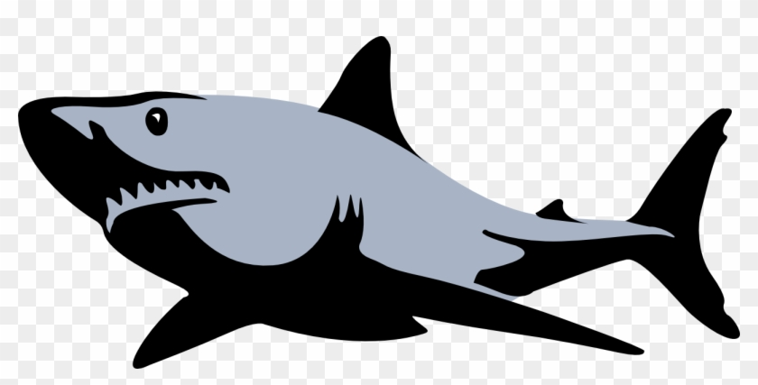 High-res Clip Art - Shark Silhouette #177733