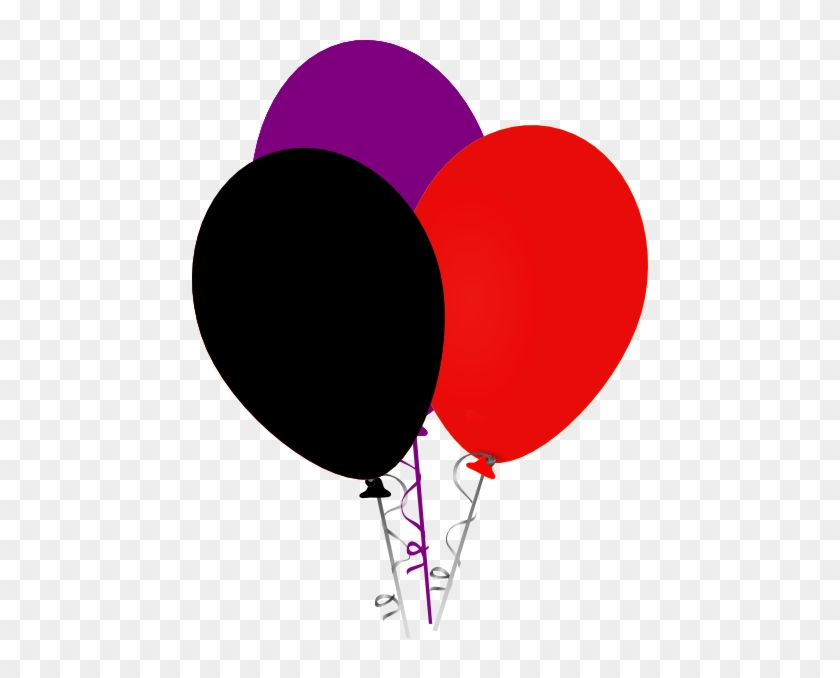 Red And Black Balloons Png #177797