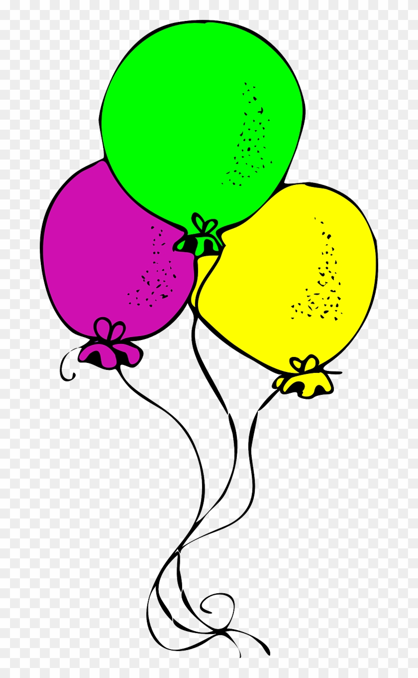 Party Banner 6 Free Balloons Free Champagne Showers - Drawing Of Birthday Balloons #177810