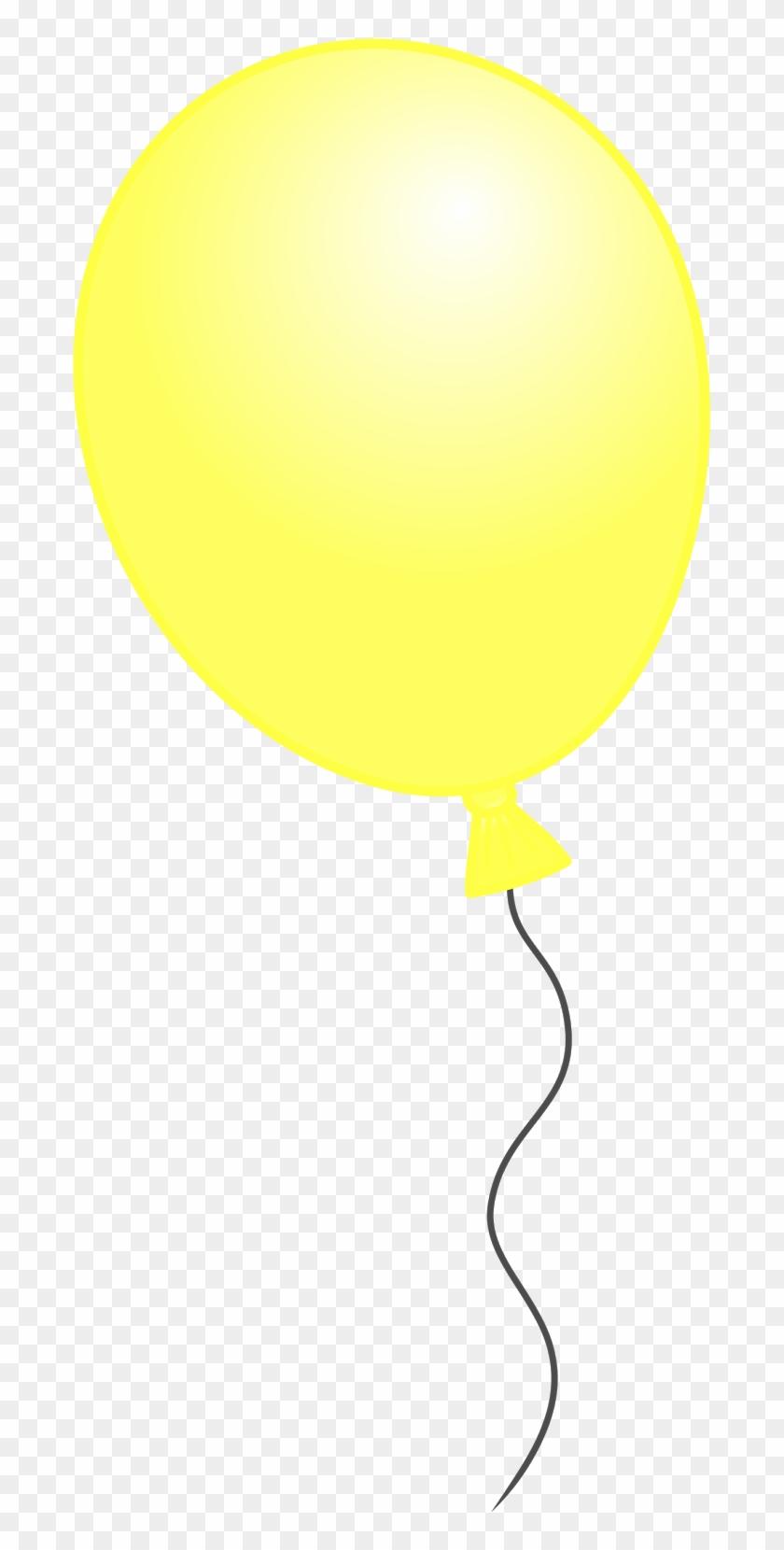 Yellow Balloon Clipart - Yellow Birthday Balloon Png #177828