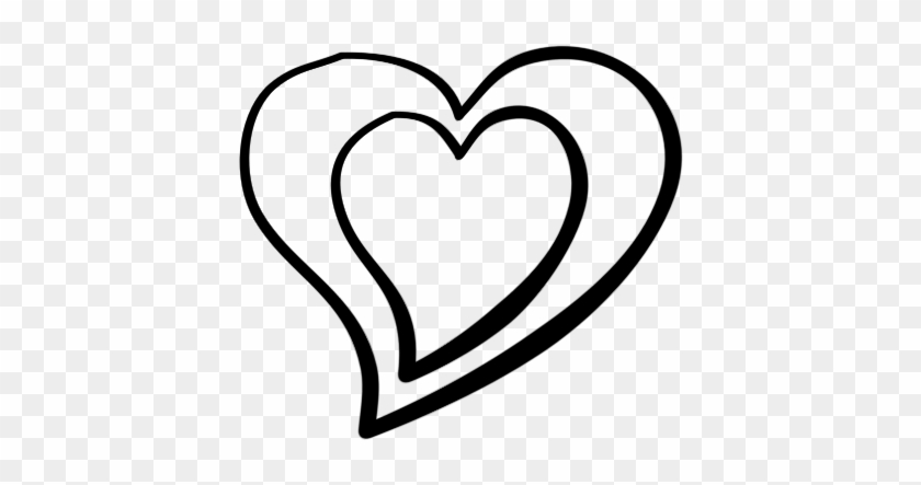 Double Hearts Clip Art Clipart Cliparts And Others - Heart Clip Art Black And White #177848