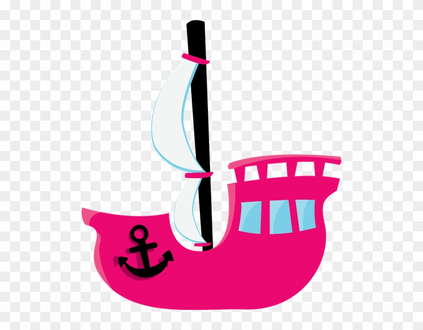 Pink Clipart Pirate Ship - Pink Pirate Ship Clipart #178251