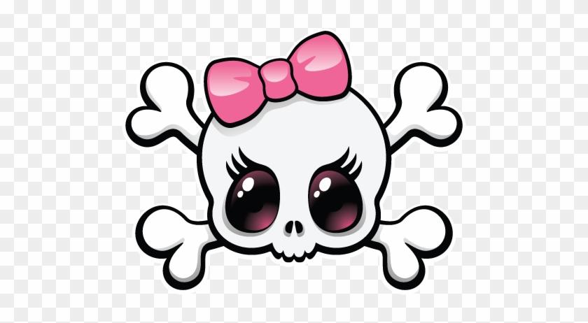 Girly Clip Art - Girly Skull And Crossbones #178254
