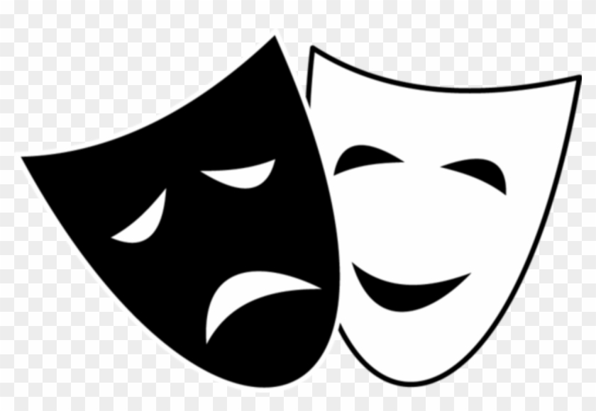 Comedy Tragedy Mask Clipart - Comedy And Tragedy Masks #178315