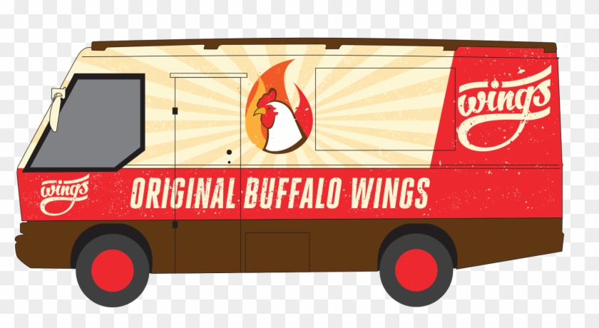 40 Most Creative Food Trucks 1 Design Per Day Design - Chicken Wings #994679