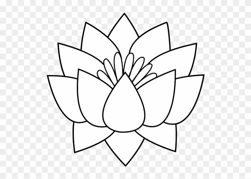 Lotus Flower Line Art Lotus Flower Drawing Cartoon Free Transparent Png Clipart Images Download