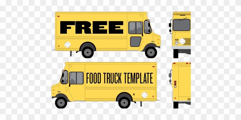 Food Truck Wrap Template By Studiofluid - Food Truck Template Vector #994999