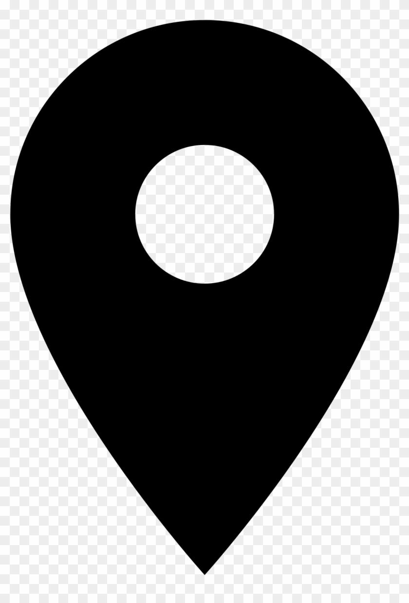 map marker pin icon symbol vector black location icon small free