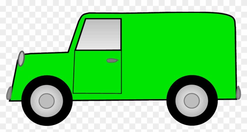 Green Delivery Truck Clipart - Green Van Clipart #995801