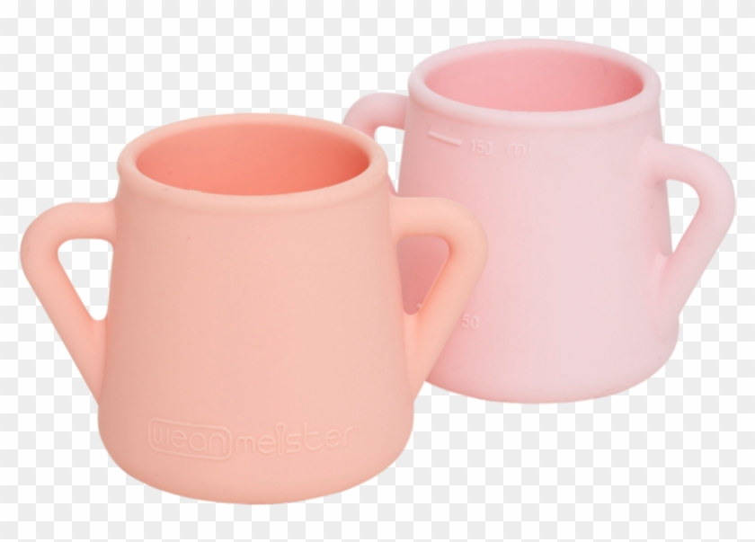 Peach & Baby Pink - Weanmeister Sippy Skillz Training Cup - Pink & #996654
