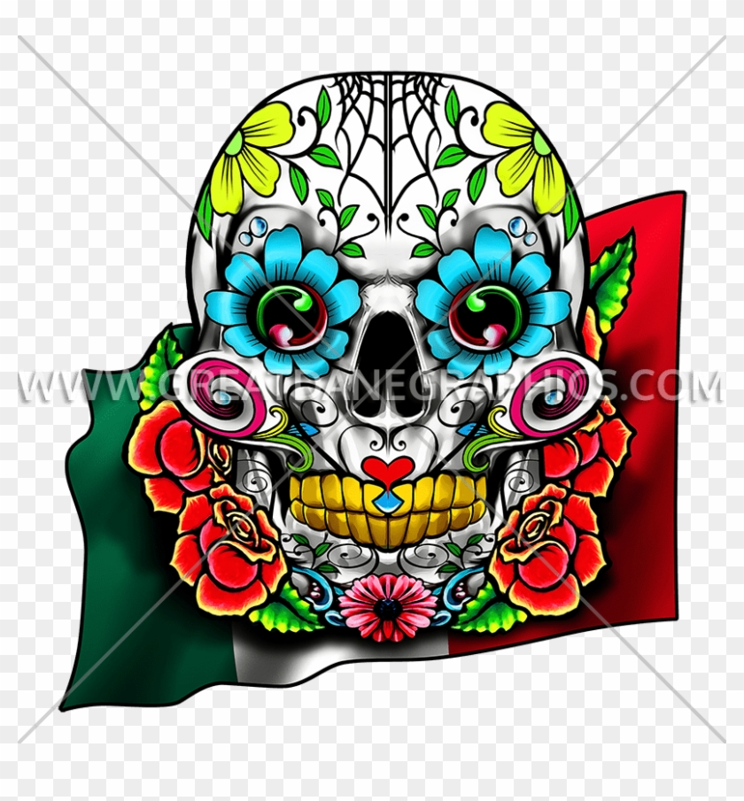 Tirecoverpro Full Color Sugar Skull With Roses #997794