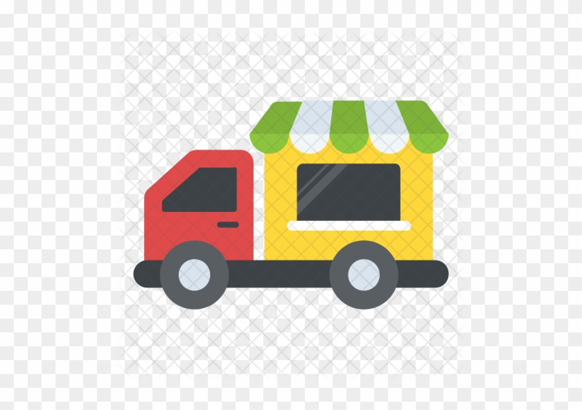 Delivery Truck And Van Simple Icons Royalty Free Vector - Food #997935