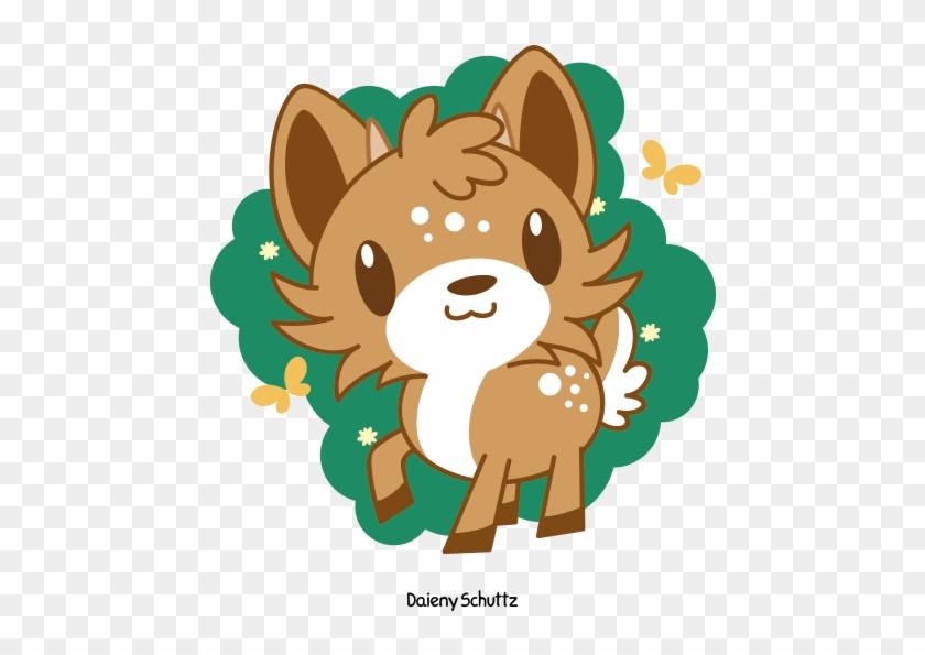 Cute Deer By Daieny - Cute Anime Deer #997956
