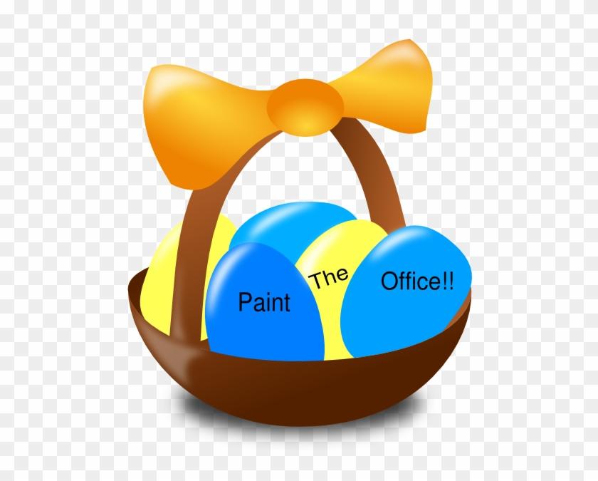 Easter Basket Clip Art - Easter Egg Basket Clip Art #999230