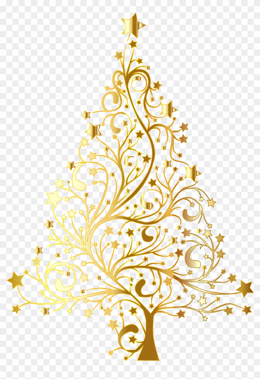 Christmas Tree Vector Free.Yellow Clipart Christmas Tree Gold Christmas Tree Vector