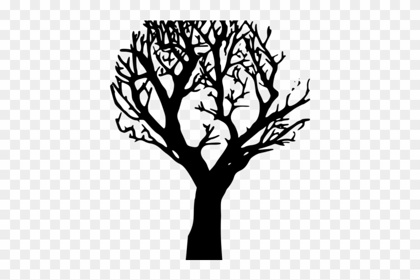 Spooky Tree Clipart - Draw A Tree On Your Wall #999495