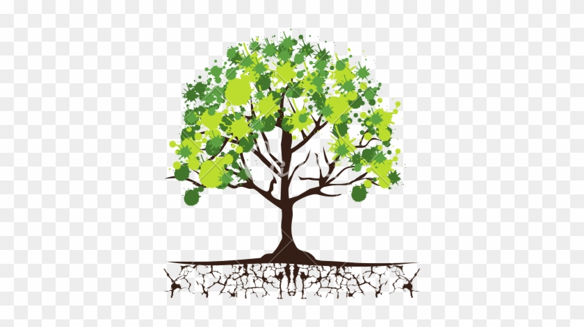 Eco Green Trees Icon - Tree With Roots And Leaves #999785