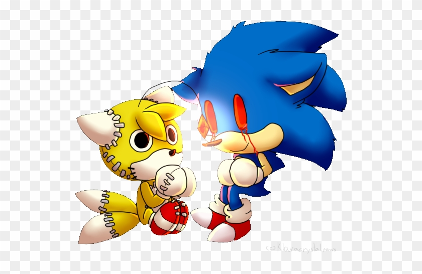 Exe And Tails Doll By Klaracrystalpaws Tails Doll X Sonic Exe Free Transparent Png Clipart Images Download