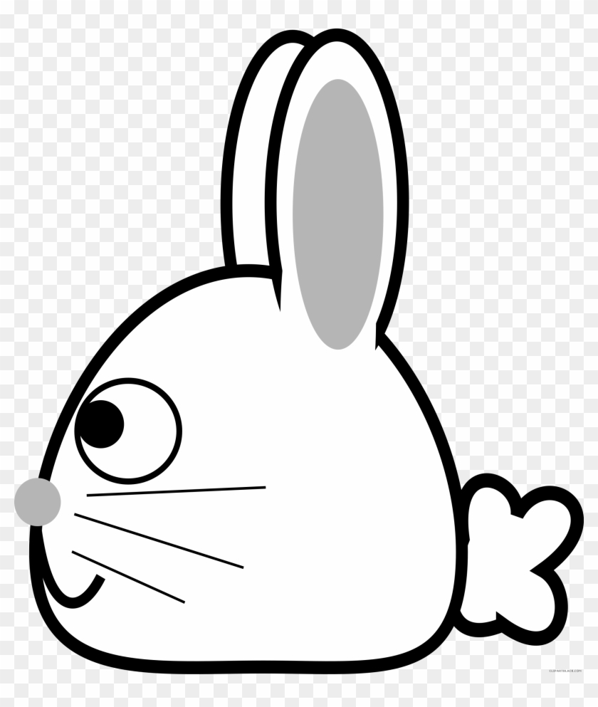 Spring Bunny Animal Free Black White Clipart Images - Rabbit #999872