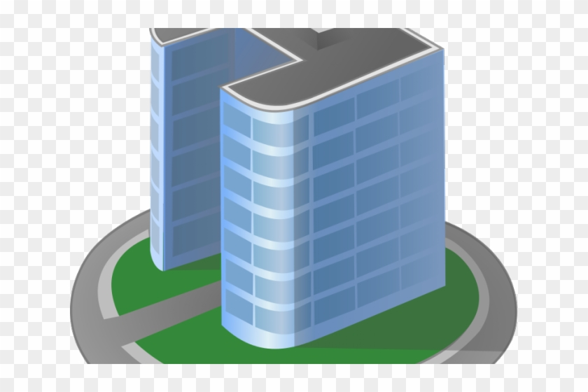 Library Clipart Office Building - 2 Building Clipart #1000144