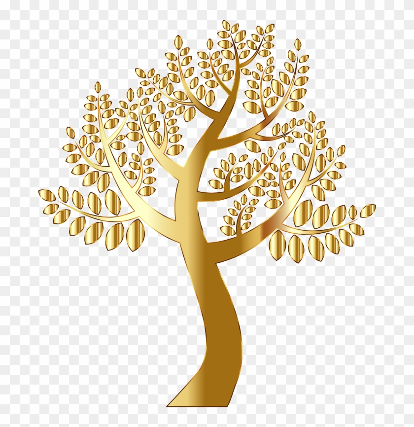 Transparent Tree With Roots Clip Art Download - Gold Tree Transparent Background #1000630