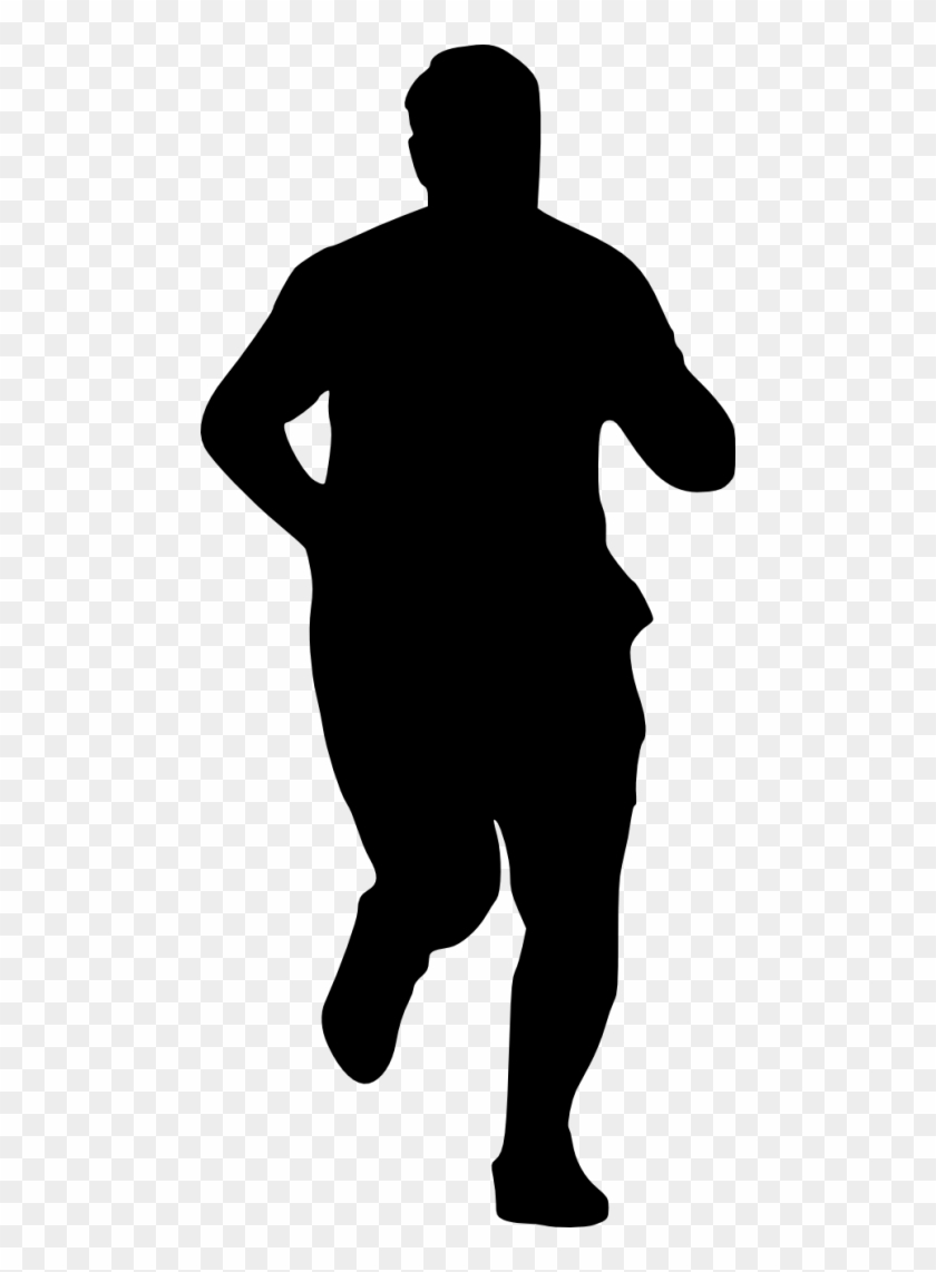Free Png Man Running Silhouette Png Images Transparent - Outline Of Halloween Cat #1000710