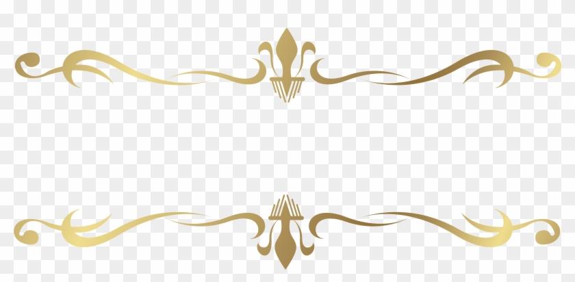 Elements Clipart Transparent Pencil - Border Line Gold Png #1000738