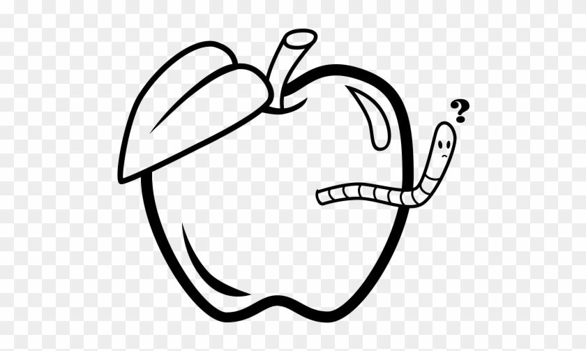 Apple Worm Rubber Stamp - Manzana Con Gusanito Para Colorear - Free ...