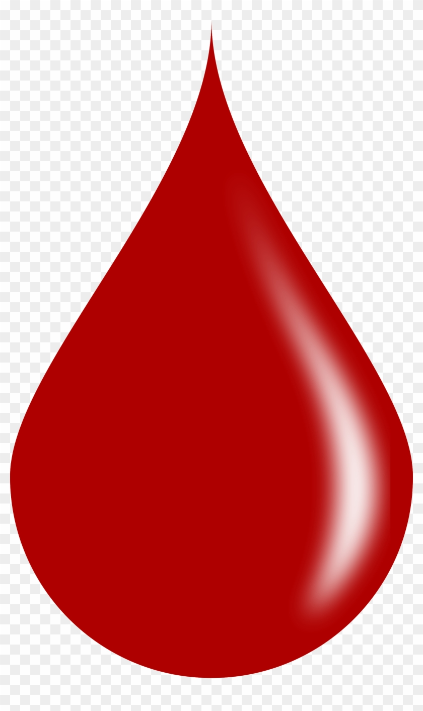Blood Clipart Real - Blood Drop Vector Png #1000936