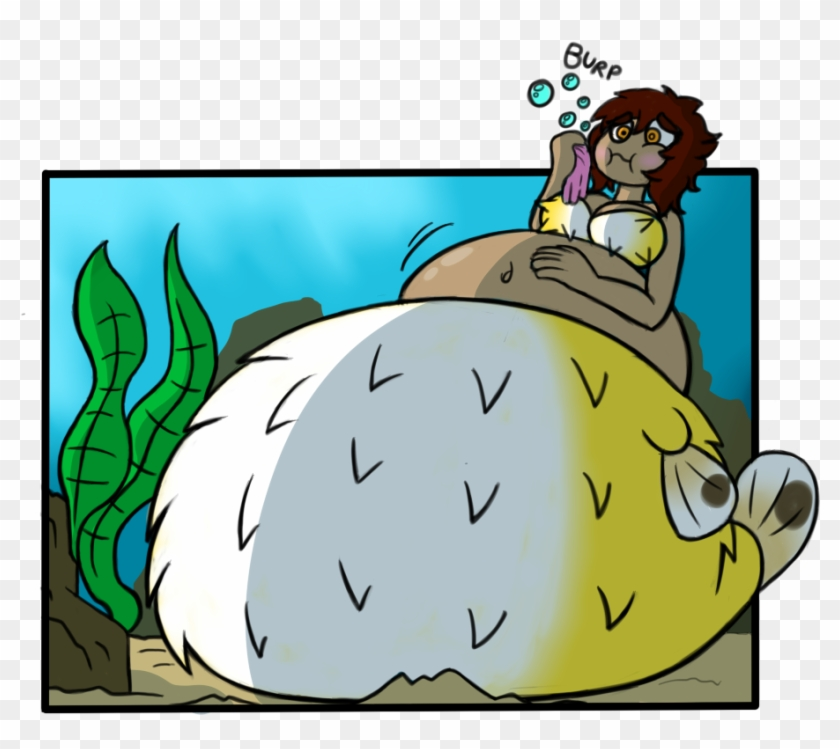 Big Ol' Puffer By Nastbag - Puffer Fish Girl Inflation #1000979