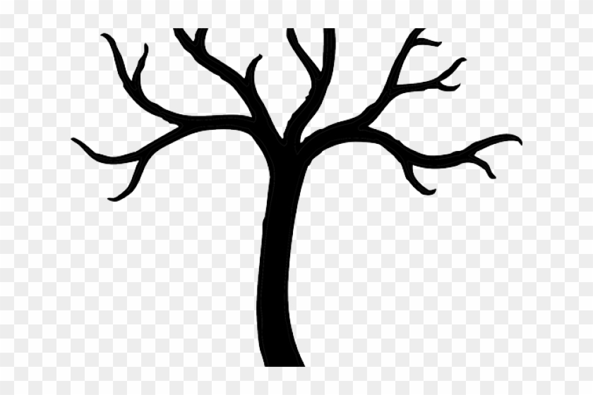 Dead Tree Clipart Curvy - Tree Clipart Black And White #1001044