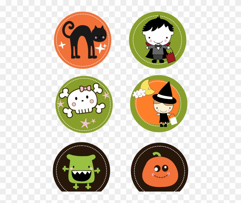 photograph regarding Free Printable Halloween Clipart titled No cost Printable Cupcake Toppers And Cup Markers - Halloween