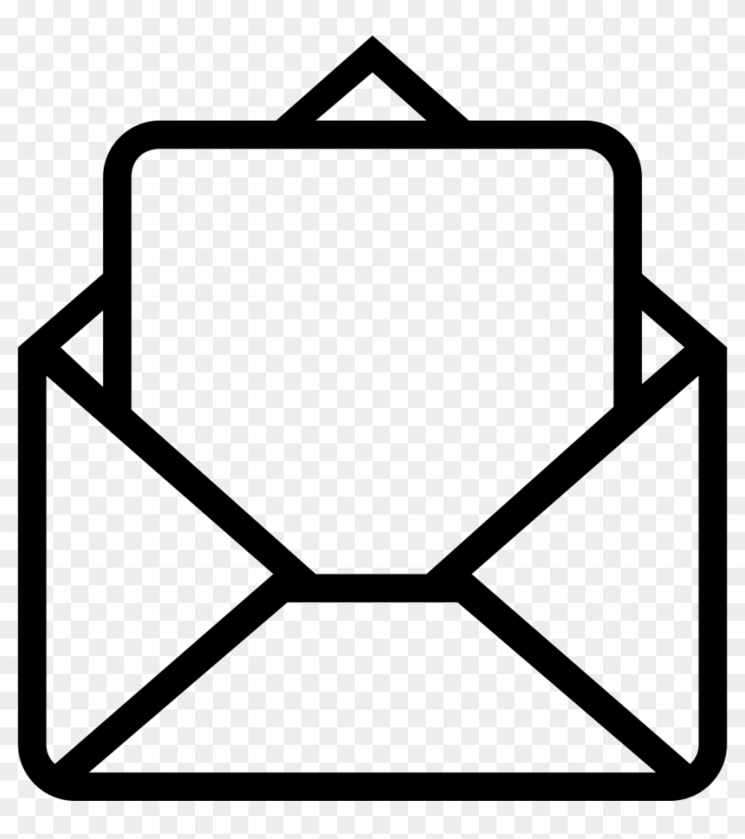 Mail Envelope Opened Outlined Interface Symbol Comments   Icon ...