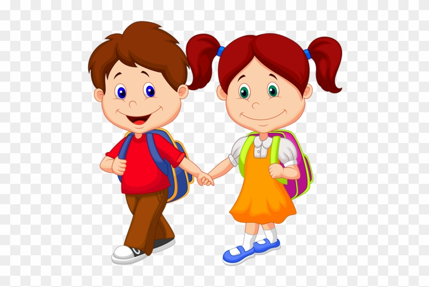 School Kids Clipart - School Girl And Boy Clipart #1001855