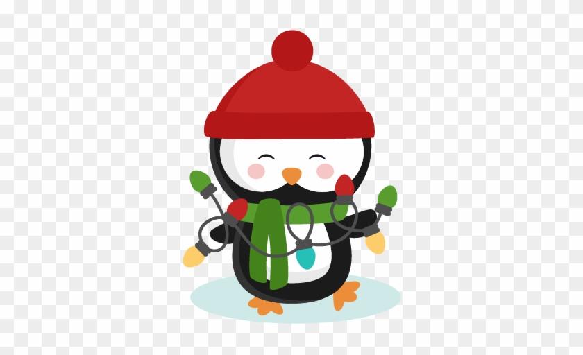 Christmas Penguin Clipart - Cute Christmas Picture Clipart #1001956