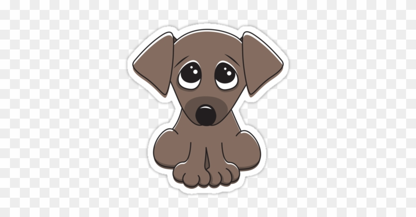 Cute Cartoon Dog With Big Begging Eyes Sticker By Cartoon Puppy Dog Eyes Free Transparent Png Clipart Images Download