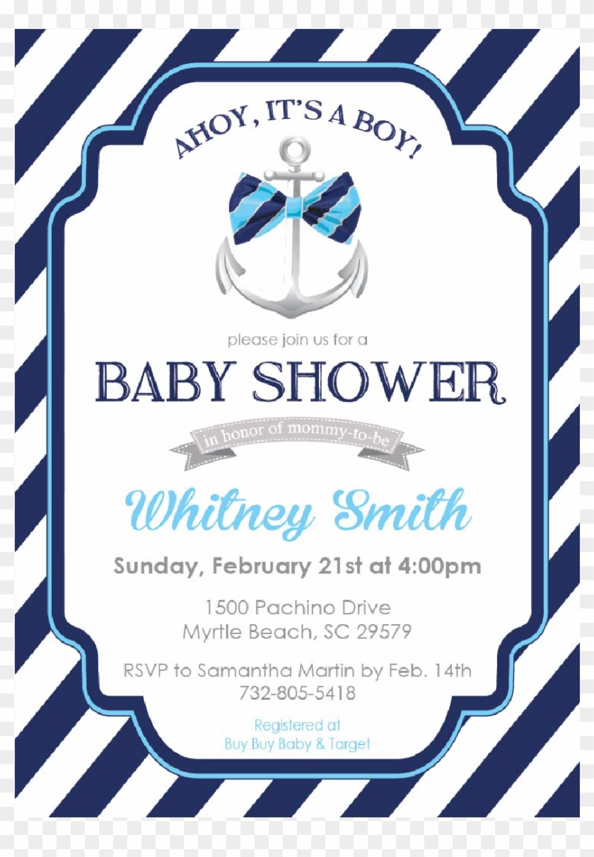 Ahoy Its A Boy Clipart For Kids - Its A Boy Baby Shower Invitations #1002324