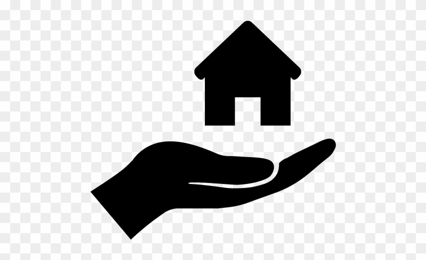 Neighborhood Improvement Project House And Hand Icon - Giving Hand Icon Png #1002398