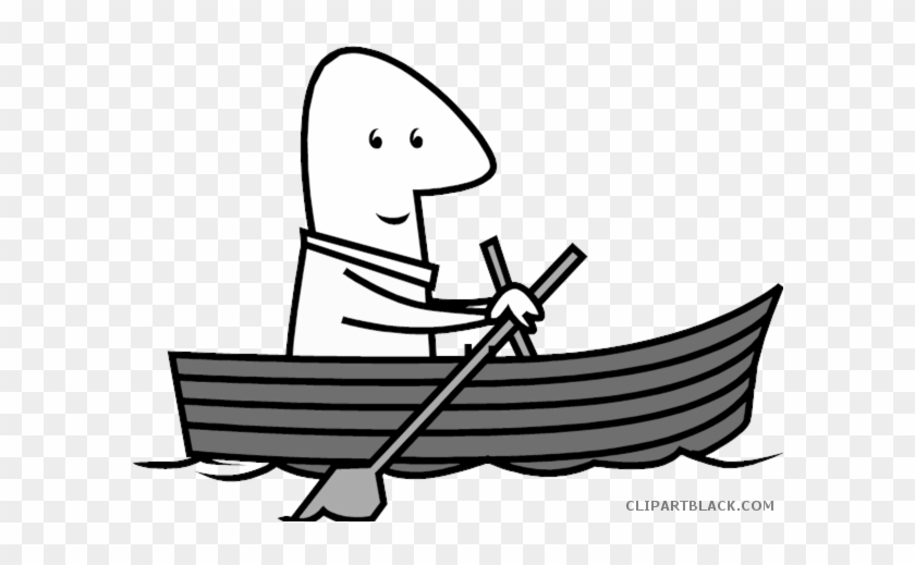 Sport Fishing Boat Transportation Free Black White Row A Boat Clipart Free Transparent Png Clipart Images Download