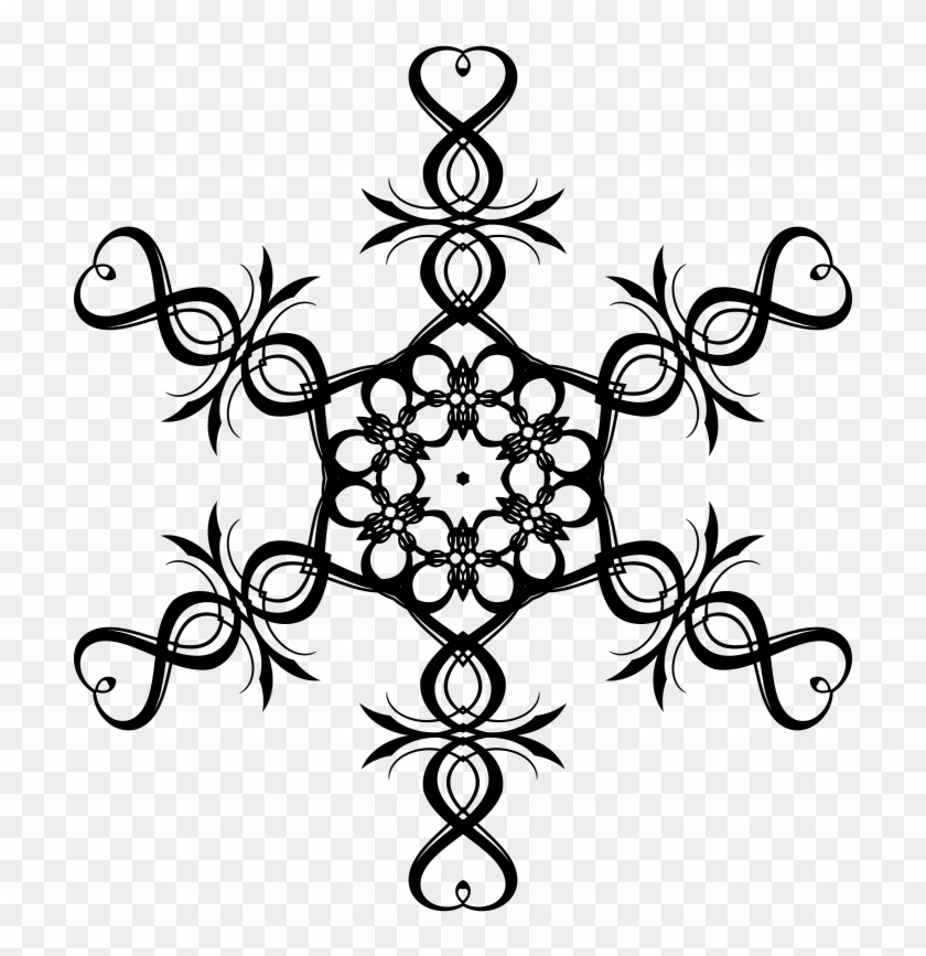 Pin Snowflake Clipart Black And White - Christmas Tree Star Vector #1003276