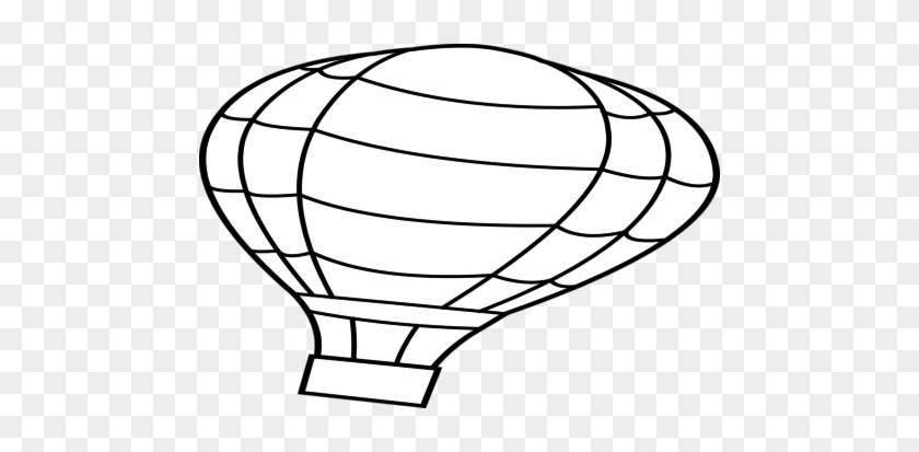 Vintage Hot Air Balloon Basket Template Black And White - Hot Air ...