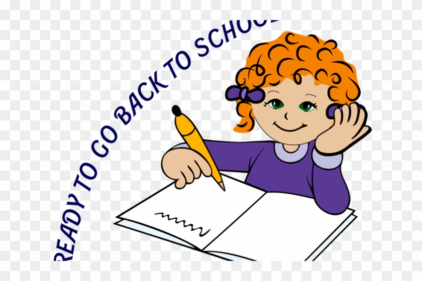 Students Writing Clipart - Student Thinking Clipart #1003779