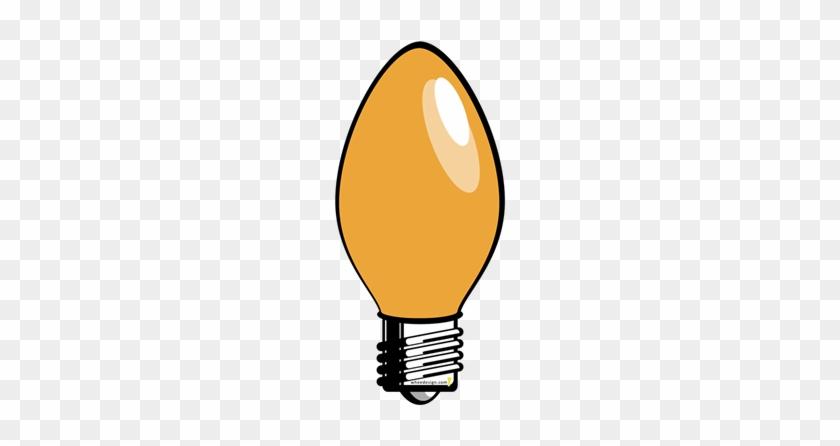 orange christmas tree light bulb yellow christmas tree light bulb greeting card